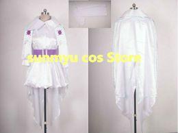 Wholesale macross cosplay for sale – halloween Macross Frontier Macross F Sheryl Nome white dress Cosplay Costume