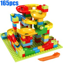 $enCountryForm.capitalKeyWord Australia - 165pcs Small Size Marble Run Set Puzzle Maze Race Track Game Toy Roller Coaster Construction Building Block Brick Toy