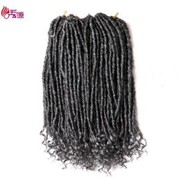 $enCountryForm.capitalKeyWord UK - Hot Sell 1Pcs Goddess Locs Crochet Dreadlocks Hair Extensions Kanekalon Jumbo Dreads Hairstyle Ombre Curly Fauxlocs Crochet Braids