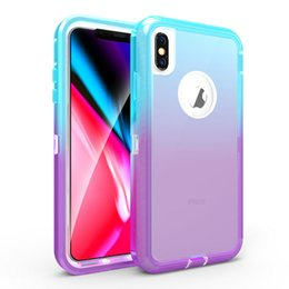 $enCountryForm.capitalKeyWord Australia - Colorful 3 IN 1 Case For iPhone X Xs Max XR 6 6S 7 8 Plus Robot Armor Heavy Duty Cover For Samsung Galaxy S10 S10e S10+ Shockproof Skin