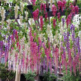 $enCountryForm.capitalKeyWord Canada - Luyue 36 PCS Wedding Decoration Garland Silk Artificial Flower Wisteria Vines simulation Rattan Party Home Garden Hotel Decor C18112601
