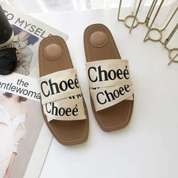 Net heeled saNdal online shopping - Factory direct free slippers women s flat summer new letters fashion flat ins wind net red wild sandals