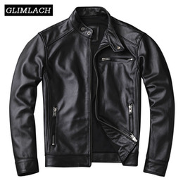motorcycle jacket size s Canada - 2019 Cowhide Genuine Leather Jacket Men Plus Size 4XL Motorcycle Real Cow Leather Short Coat Clothes Slim Outerwear Male Autumn