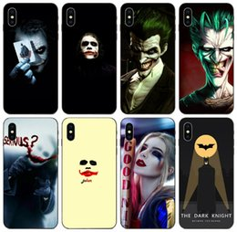 batman metal case UK - [TongTrade] Stylish Batman Joker Face Case For iPhone 8 7 6s 5 Plus X XS 11 Pro Max Samsung S6 S7 Edge Honor 9X Redmi Note 5A Anti Slip Case