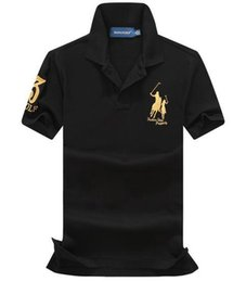 Shirt brandS china online shopping - NEW cotton China Brand Small Horse Stand Collar Golf POLOS men s fashion Summer short sleeved POLO shirt casual men Designer POLOS