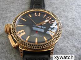 55mm Watches Australia - 55mm big size AUTOMATIC dark style cool BLACK DIAMOND GOLD MEN WATCH wristwatch Classico LIMITED EDITION u1001 waterproof WRISTWATCH