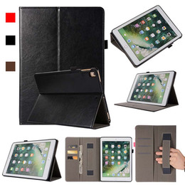 Asus Tablet Stands Australia - luxury Classic PU Imitation Leather Case For ipad 5 6 With Folding Stand Dormancy Tablet Protective Cover