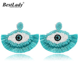 Unique Gifts For Ladies Australia - Best lady Hot Bohemian Beaded Eyes Tassel Earrings for Women Unique Gift All Handmade Ethnic Wedding Fringed Drop Earring Party