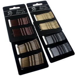 black women wedding hair styles UK - NEW 24pcs set Durable Women Bobby Pins Styling Hair Accessories Tools Hair Clip Ladies Hairpins Curly Wavy Grips G0315