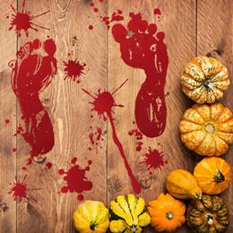$enCountryForm.capitalKeyWord Australia - Sale Halloween Horror Door Wall Stickers For Window Glass Pumpkin Footprints Blooding Handprint Decals Bloody 1 Sheet Poster