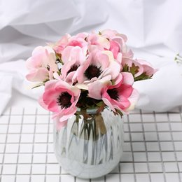 $enCountryForm.capitalKeyWord NZ - White Artificial Large Flowers Pink Silk Big Flower Home Decoration Butterfly Orchid Fake Flower Wedding Bridesmaid Hand Bouquet