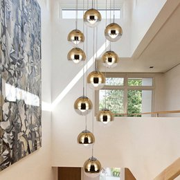$enCountryForm.capitalKeyWord NZ - led Pendant light Modern Nordic Creative Stair Lamp Living Room Glass Ball Hanging Lamp Long Pendant Lamp Cord Double Staircase
