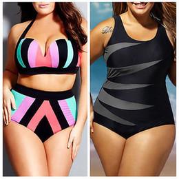 $enCountryForm.capitalKeyWord Australia - 2019 New Plus Size Womens High Waist Push up Bikini set Striped Swimwear Beach Bathing Suit Large Swimsuit XL XXL XXXL XXXXL