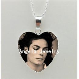 Michael Glasses Australia - 2019 Wholesale New Michael Jackson Heart Necklace Moonwalk Pendant Classic Michael Jackson Silver Heart Necklace HZ3