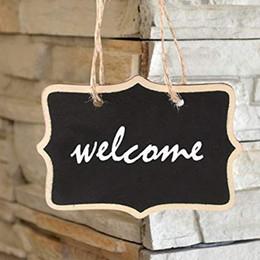 Garden Boards Australia - Mini Chalkboards Signs Hanging Blackboard Rectangle Message Board Double Sided for Weddings, Kids Crafts, Garden