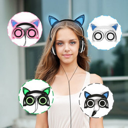 Discount laptop mix - Cat Ear LED Light Gaming Headphones Foldable Flashing Earphone Glowing Gaming Headset Multi-connect Smart Phone Laptop