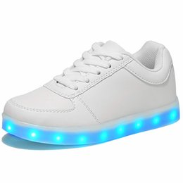 $enCountryForm.capitalKeyWord Australia - Led Luminous Shoes For Boys Girls Fashion Light Up Casual Kids 7 Colors Usb Charge New Simulation Sole Glowing Children Sneakers MX190727