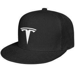Orange Car Logo NZ - Womens Mens Plain Adjustable Tesla Car LOGO Punk Hip-Hop Cotton Baseball Cap Summer Travel Hats Flat Top Hat Airy Mesh Hats For Men Women