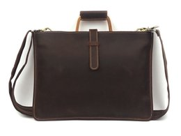 Wholesale Nesitu High Quality Vintage Brown Genuine Leather A4 Men Briefcase Crazy Horse Leather Messenger Bag Male Portfolio M1823