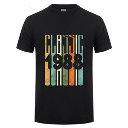 birthday party t shirts Australia - Summer Sleeves Cotton T Shirt Fashion Print 30th Birthday Tshirt Classic 1988 Shirt Gift Party Mens Black