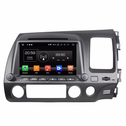 Wholesale Android Octa Core din quot Car DVD GPS for Honda Civic Right With Radio GB RAM Bluetooth GB ROM USB Mirror link
