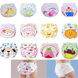 child diapers NZ - Cute Baby Diapers Reusable Nappies Cloth Children Diaper Washable Infants Cotton Training Pants Panties Baby Nappy Changing