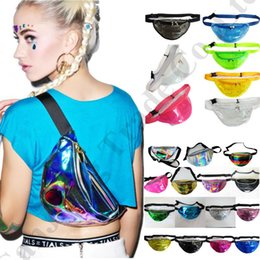 wholesale designer purse bag Australia - Women Designer Fanny Pack Laser Hologram belt Waist Bag Waterproof Translucent Shiny Chest Bags Travel Beach Purse Shoulder Bum Bag C72601