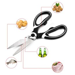 multifunction kitchen scissors NZ - Multifunction Chicken Shears Stainless Steel Kitchen Scissors Poultry Fish Vegetables Shears Food Nut Scissors Bottles Openers BH1461 TQQ
