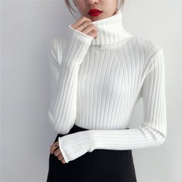 short sleeve cashmere jumper 2019 - 2018 Thick Warm Women Turtleneck 2018 Winter Women Sweaters And Pullovers Knit Long Sleeve Cashmere Sweater Female Jumpe