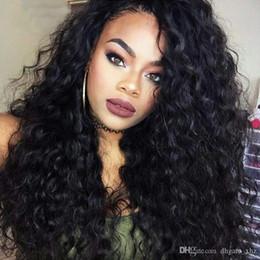 Kinky Curly Lace Front Cheap Australia - Cheap Long Kinky Curly Full Lace Wig Virgin Mongolian Lace Front Wig Kinky Curly Human Hair Wigs For Black Women