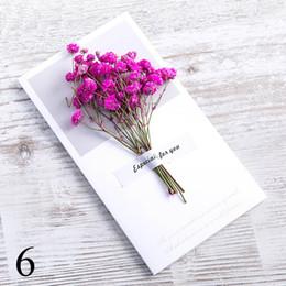 $enCountryForm.capitalKeyWord Australia - Handmade Dry Flower DIY Kraft Paper Invitation Greeting Card Inner Paper With Ribbon & Envelope & Seals Wedding favors