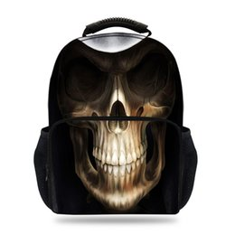 $enCountryForm.capitalKeyWord Australia - 15inch Cooler Character Backpack For School Gils Boys Skull Backpacks For Children Teens