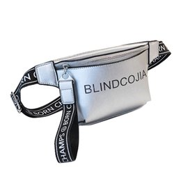 $enCountryForm.capitalKeyWord Australia - Personality Bright Waist Bag Pearlescent Color Fashion Silver Zipper Belt Leather Fanny Pack Female Party Solid Color Belly #LR2