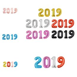 Years Party Decorations NZ - 40 inch numbers balloon foil balloons new year party Festival celebration decoration digital balloon 2019 balloons wedding decoration T8I064