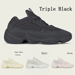 Wholesale New Blush Utility Black Yeezy yeezys V2 Boost v2 boost kanye west running shoes Super Moon Yellow sports sneakers