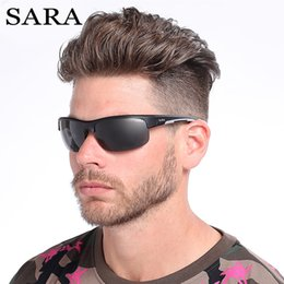 187154ac512d SARA Polarized Sunglasses Men Brand Design Rectangle Mirror Sport Luxury  Vintage Male Sun Glasses For Men Driver Shades Oculos