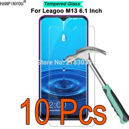 "Discount leagoo screen - 10 Pcs Lot For Leagoo M13 6.1"" 9H Hardness 2.5D Ultra-thin Toughened Tempered Glass Film Screen Protector Guard"