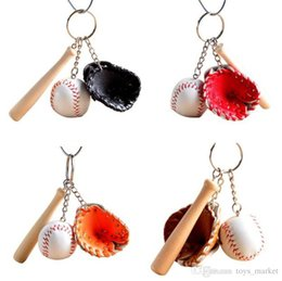 Ring Slides Australia - Multicolor Men Bags Car Key Ring Simulated Tennis Baseball Key Chain Couples Lover Gift For Women Keychain Jewelry