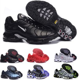 Wholesale Fast Shipping Top Quality MENs Air TN RunnING ShOes ChEAp BASKET REQUIN Breathable MESH CHAUSSURES HoMMe noir Zapatillaes TN ShOes MJ36