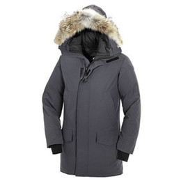 Casual Coat designs for men online shopping - Mens Designer Down Coats for Winter Fur Hooded Slim Fit Warm Parkas Buttons Canada Coat Fashion Outerwears with Colors