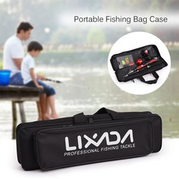 $enCountryForm.capitalKeyWord Australia - Lixada Portable Fishing Bag Case Fishing Rod and Reel Travel Carry Case Bag Carrier Pole Gear Tackle Storage #359392