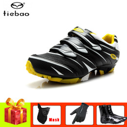 bicycles shoes NZ - TIEBAO cycling shoes sapatilha ciclismo mtb shoes cover outdoor cycling sneakers riding bike bicycle gloves mountain bike
