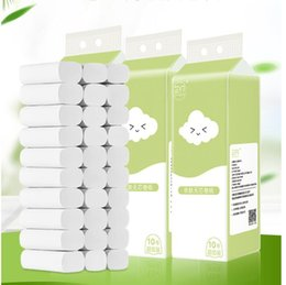 rolls pack NZ - New In Stock Family Affordable White Toilet Paper Roll Tissue Pack Of 10 4Ply Towels Tissue Household Toilet Tissue Roll Papers PTD 001