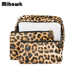 Chinese  Mihawk Women PU Leopard Cosmetic Bags Travel Wash Storage Case Beauty Make Up Lipstick Pouch Waterproof Makeup Toiletry Holder manufacturers