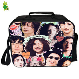 Pack Lunch Australia - Ezra Miller Pop Star Collages Lunch Bag Fresh Keeping Cooler Bag Insulation Ice Pack Women Men Thermal Shoulder Picnic Box