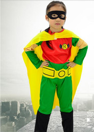 costume superman Australia - Children's costume boy robin superman costume cape eye patch suit stage performance costume