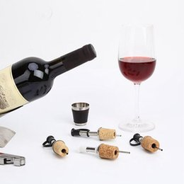 Wine corking tool online shopping - Stainless Steel Cork Stopper Wine Stopper Pourer Bottle Diversion Nozzle Red Wine Pourer Bar And Kitchen Tools ZZA1223