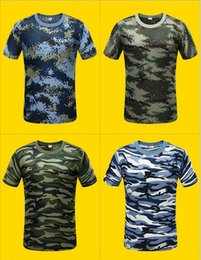 Tactical Tee Men Australia - New Camouflage T-shirt Men Breathable Army Tactical Combat T Shirt Dry Camo Camp Tees ACU Green outdoor t-shirt of men