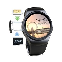 bt smart watch Australia - KW18 Smart Watch SIM 1.3 Inch Round Smartwatch Heart Rate BT 4.0 SIM+TF Card Support Better Than GV18 GT08 Smart Watch Andriod Smartwatch