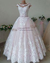 $enCountryForm.capitalKeyWord Australia - 2019 gorgeous 3D Foral Lace country garden Dubai Arabic plus size long puffy Wedding Dresses Bridal Gowns custom made vestidos de novia